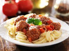 Špagety s mäsovými guľkami