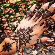 2. #Feminine Fingers - 35 #Incredible Henna #Tattoo Design #Inspirations ... → #Beauty #Tattoos