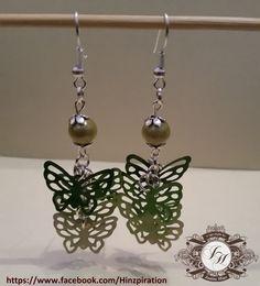 Meine grün-gelben Schmetterlingsohringe
