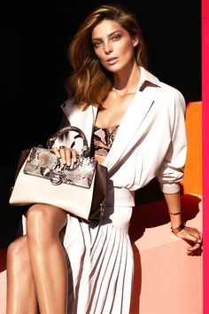 Gorgeous fashion advert #SS14 - Daria Werbowy posing for Ferragamo. #Musestyle