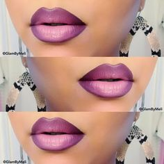 Purple Ombre Lips. Click the pic to see the how-to. #lips #bestofbeauty #staffpicks