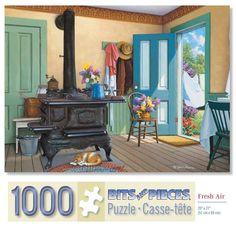 Bits and Pieces - 1000 Piece Jigsaw Puzzle - Fresh Air, Summer Catnap - by Artist John Sloane - 1000 pc Jigsaw Vintage Look Vintage, Vintage Art, 1000 Piece Jigsaw Puzzles, Artist, Painting, Fresh, Home, Summer, Summer Time