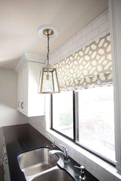 Custom Flat Roman Shade As Featured on by recreateyour on Etsy, Two 36 x 24 Roman Shades Kitchen, Kitchen Cabinets Decor, Kitchen Ideas, Kitchen Windows, Custom Roman Shades, U Shaped Kitchen, Drapery Panels, Decor Styles, Home Goods
