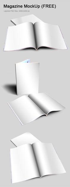 mockup gratuito de revista - IDEAGRID