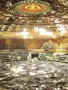 Buzludzha Monument – Abandoned Relic of Bulgaria's Communist Past ~ Kuriositas Abandoned Buildings, Abandoned Places, Detroit Before And After, Bulgaria, Parc National, National Parks, Dresden, Abandoned Train Station, Abandoned Hospital