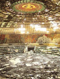 Buzludzha- an abandoned amphitheater in Bulgaria