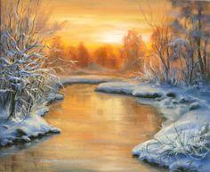 Winter - Sunset by Lidia Olbrycht