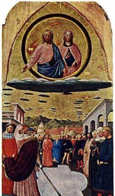 Изображения НЛО на древних картинах и иконах