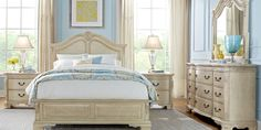 Cortinella Cream 5 Pc Queen Panel Bedroom Find affordable Queen Bedroom Sets for your home that will complement the rest of your furniture. Affordable Bedroom Sets, Luxury Bedroom Sets, Bedroom Sets For Sale, King Size Bedroom Sets, Queen Bedroom, Luxurious Bedrooms, Luxury Bedding, Master Bedroom, Affordable Bedding