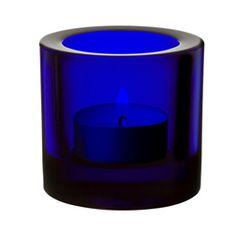 Colbalt Blue Glass Votive ~ iittala - iittala Crystal - Kivi