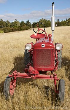 A fully restored 1951 International Farmall Cub. The Cub in this form was made from 1947-64 and was a 10hp light-duty tractor popular with market gardeners. Later models, updated but similar in design, continued to be produced until 1979.