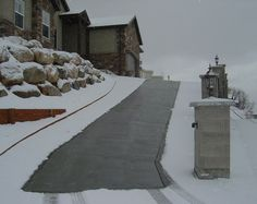 Heated Deck Amp Stairs For Snow Melting Snow Melting And