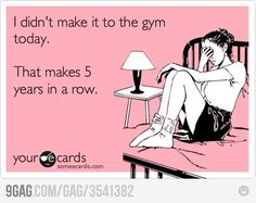 Didn't make it to the gym today...