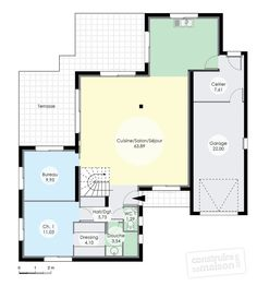 plan de maison 125m2