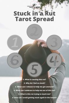 Stuck in a Rut Tarot Spread and four other tarot spreads perfect for the new moon.