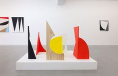Sarah Crowner Untitled sculptures, 2012 alternately gouache / oil on wood and stained pine / oil on wood Various dimensions