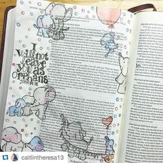 """What an adorable and sweetly journaled page by @caitlintheresa13 ! She referenced something deeply personal! Wonderful! Keep studying God's Word and using your talent to deepen your time in the Word!  #craftedword #biblejournaling #biblejournalingcommunity #repostedwithpermission #Repost @caitlintheresa13 with @repostapp.  On 31 March 2016 I got my first journaling bible! On that day nineteen years ago 31 March 1997 my parents arrived at an orphanage in Vietnam where their """"thirteen pounds…"""