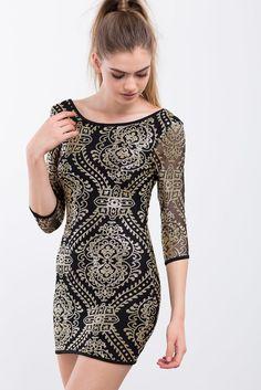 A'GACI | Jordan Printed Sequin Bodycon| #BoutiqueFive