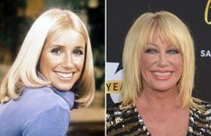 Suzanne Somers (1975, 2016) - Michael Ochs Archives/Getty Images; Jason Kempin/Getty Images