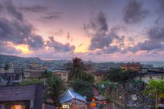 Freetown, Sierra Leone at dusk... incredible!