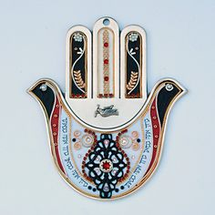 Wall Hamsa Hand by Esther Shahaf. Judaica Store