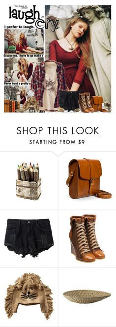"""What is the thinnest book in the world? ""What Men Know About Women"""" by natza ❤ liked on Polyvore featuring Zara, OneTeaspoon, Chloé, Gap, denim shorts, wedge boots, plaid shirts, hats, brown and leather messenger bags"