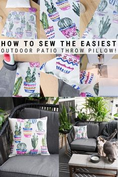 Learn how to sew outdoor pillow covers for your patio furniture! This easy-to-follow tutorial is designed specifically for beginner sewists.