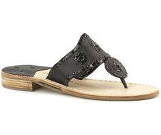 Who wouldn't want to wear Jackie Kennedy's fav shoes? Palm Beach Navajo Sandal in Black by @JackRogers