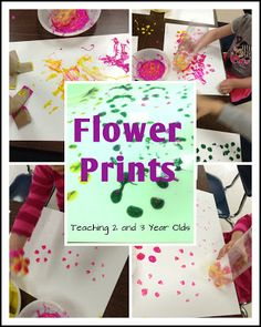 Flower Prints Using Soda Bottles - Teaching 2 and 3 Year Olds
