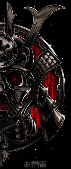 Samurai Vader on Behance Arte Ninja, Ninja Art, Graffiti Wallpaper, Graffiti Art, Samourai Tattoo, Samurai Wallpaper, Warriors Wallpaper, Samurai Artwork, Arte Cyberpunk