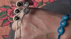 English Macrame (4) (Bracelet) Point S with accessories/ Las3Raices
