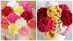 Crochet carnation flower pattern free