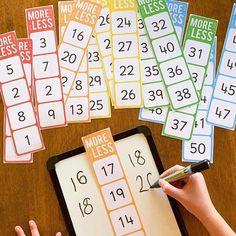 One More, One Less, Ten More, Ten Less Number Cards – you clever monkey - Mathe Ideen 2020 Math For Kids, Fun Math, Number Games For Preschoolers, Kids Fun, Teaching Math, Kindergarten Activities, Kindergarten Preparation, Number Sense Kindergarten, Number Sense Activities