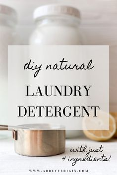 Laundry Detergent Recipe, Natural Laundry Detergent, Natural Cleaning Recipes, Natural Cleaning Products, Cleaning Diy, Natural Lifestyle, Homemade Products, Castile Soap, Cleaning Solutions