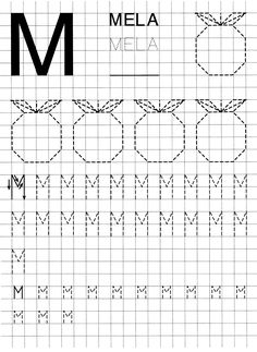 Letter Tracing Worksheets, Tracing Letters, Graph Paper Art, Paper Trail, Play To Learn, Kids Education, Pre School, Homeschooling, Teaching