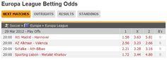 Europa League quarter-final odds. http://www.FlashScore.com/soccer/europe/europa-league/