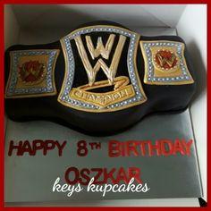 Wwe wrestling belt cake Wrestling Birthday Parties, Vintage Birthday Parties, Kids Birthday Themes, 9th Birthday Parties, Wrestling Cake, Wrestling Party, Wwe Party Supplies, Wwe Cake, Happy 10th Birthday