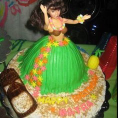 Wilton wonder cake mold---Hula girl