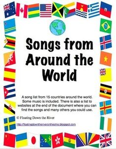 Music Around the World passports, Posters, Bulletin board