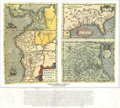 Cartografía de los Reinos del Perú, Nueva Granada, la Florida y el Este de México (1587) - AHG.