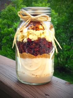 Cranberry Cookie Mix in Mason Jar.  via Etsy.