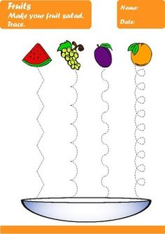 Fruits Worksheets Age by Elena Dincheva Body Preschool, Preschool Writing, Free Preschool, Mazes For Kids Printable, Printable Preschool Worksheets, Summer Activities For Toddlers, Math For Kids, Visual Perception Activities, Shape Coloring Pages