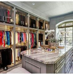 The best of luxury closet design in a selection curated by Boca do Lobo to inspire interior designers looking to finish their projects. Discover unique walk-in closet setups by the best furniture makers out there Walk In Closet Design, Closet Designs, Master Closet Design, Master Bedroom Closet, Master Suite, Ideas Armario, Dressing Room Closet, Dressing Rooms, Dressing Area