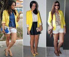 looks com blazer amarelo 1