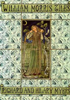 William Morris Tiles, William Morris, one of my favorite authors and also an artist of the Victorian era. He was quite accomplished as a textile artist and as a writer, he influenced Tolkien.