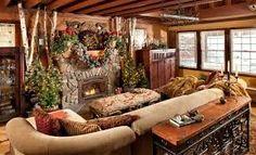 christmas lights log cabin - Google Search