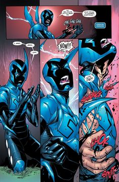 Blue Beetle #3...I love that Jaime has to fight his own suit sometimes.