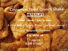 Cinnamon Toast Crunch  Herbalife Shake...      Cut the milk add 2 scoops protein. www.facebook.com/christinaivanherbalife, christinaivanherbalife@gmail.com, #herbalife #herbalife24 #fitgirls #getfit
