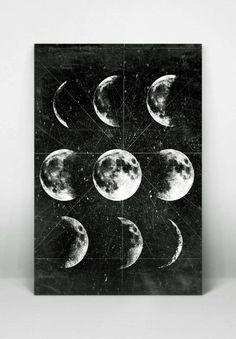 Luna luna llena Luna cartelismo con fases de por 8RedFishCreative