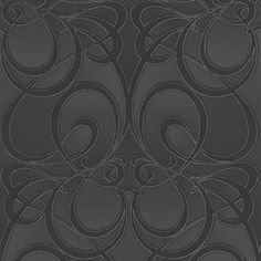 Jazz Damask Wallpaper - Black Damask Wall Coverings by Graham  Brown